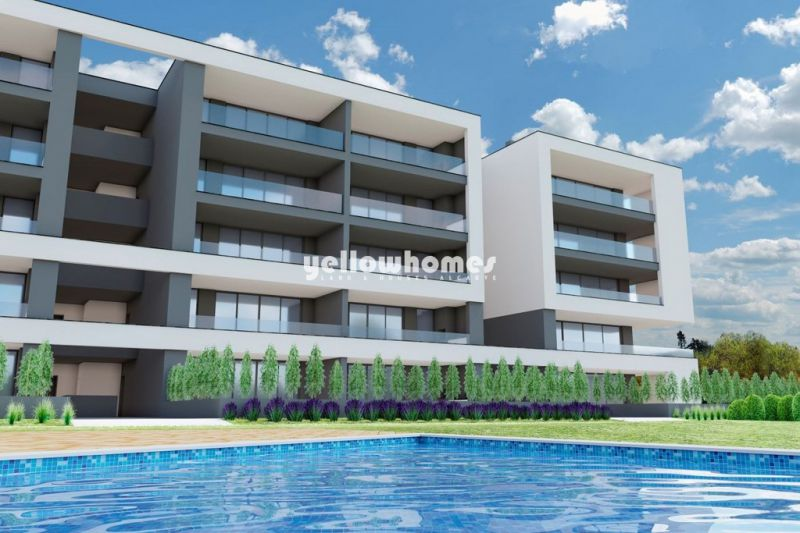 New 3-bed apartments with communal pool near Portimao and beaches